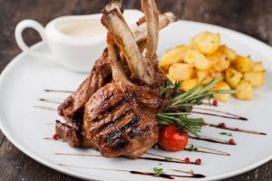 Greek Lamb Chops with Potatoes