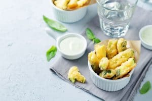 Zucchini Fritters with Pesto and Greek Yoghurt